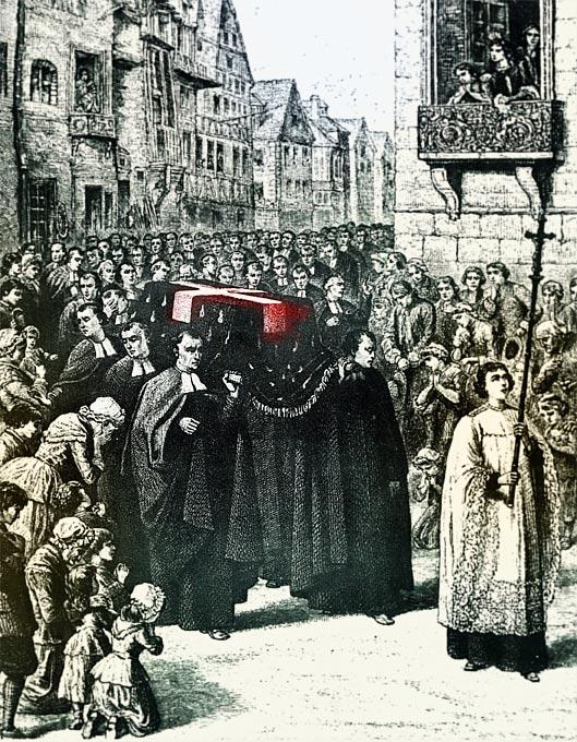 De La Salle's funeral