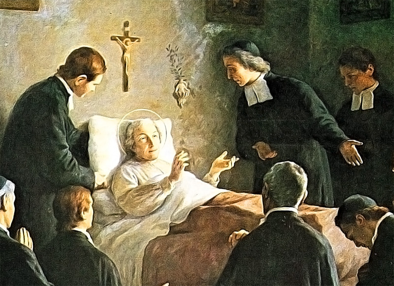 De La Salle died on Good Friday, April 7, 1719, among his fellow Brothers.
