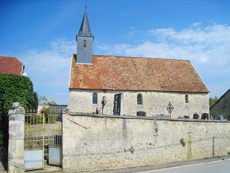 View from across the street of the chapel in Brouillet where De La Salle worshiped as a child.