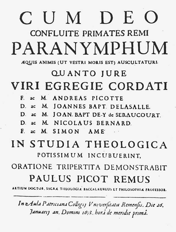 De La Salle's invitation to speeches at the college