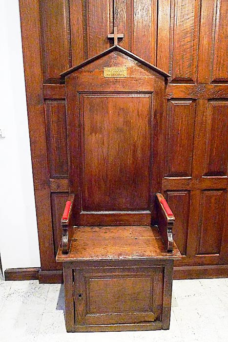 De La Salle's chair used in Dijon 1714