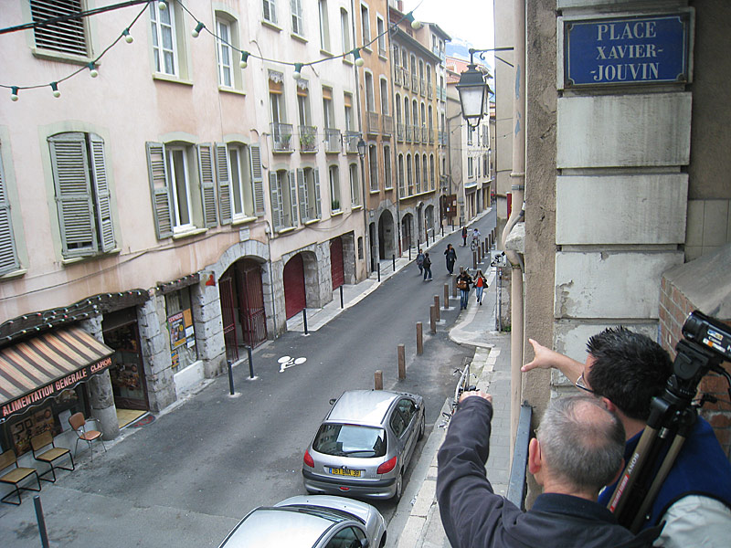 Overlooking the building where the Brothers first lived in Grenoble.