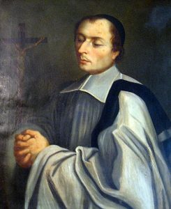 A portrait of Nicholas Roland at the motherhouse in Reims of the Sisters of the Child Jesus.