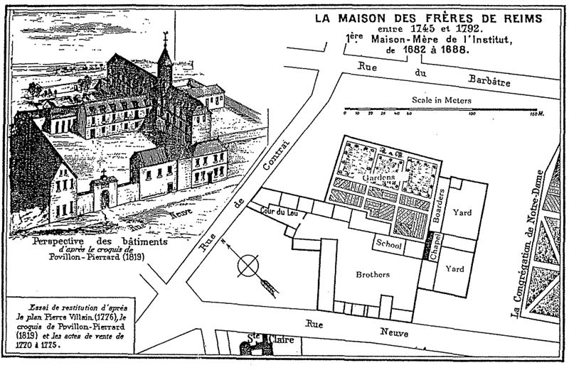 Rue Neuve, map of the Brothers Cradle of the Insitute