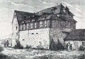 Engraving of the house at Rouen called