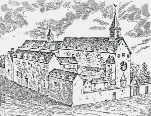 This engraving shows the house as De La Salle knew it.